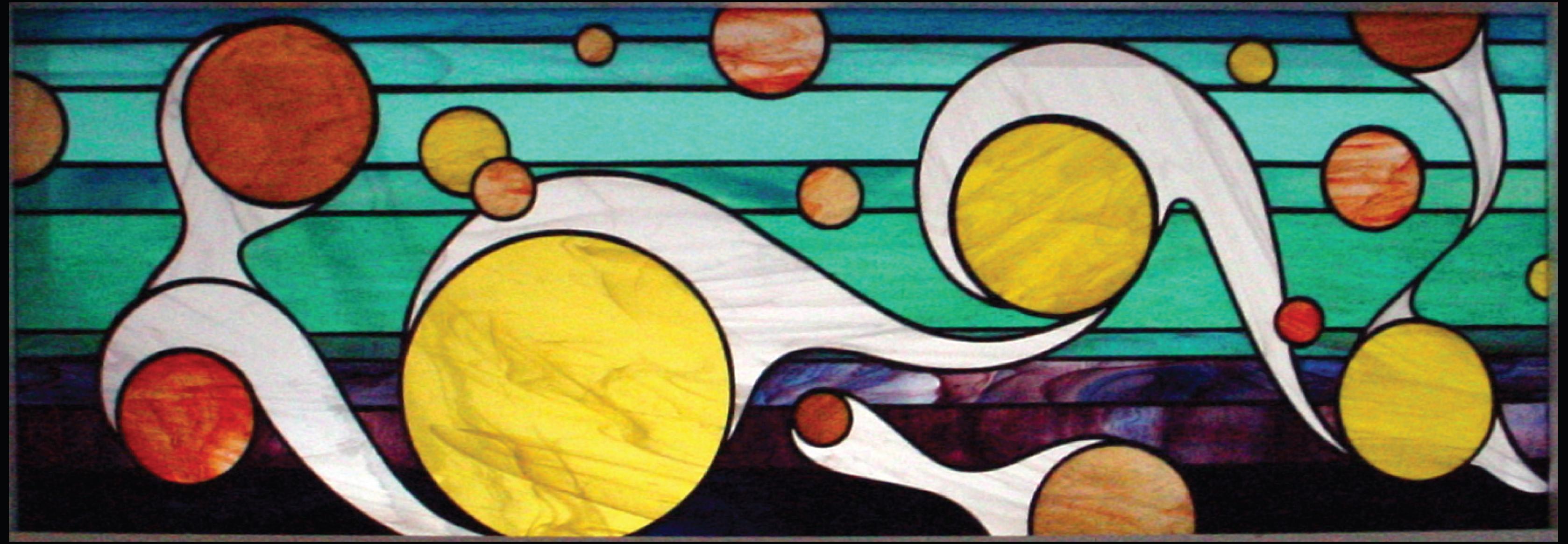 Dancing Bubbles, 2005, tiffany